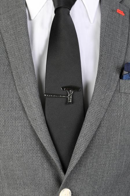 Ds Damat Siyah Kravat İğnesi - 8681778977880 | D'S Damat