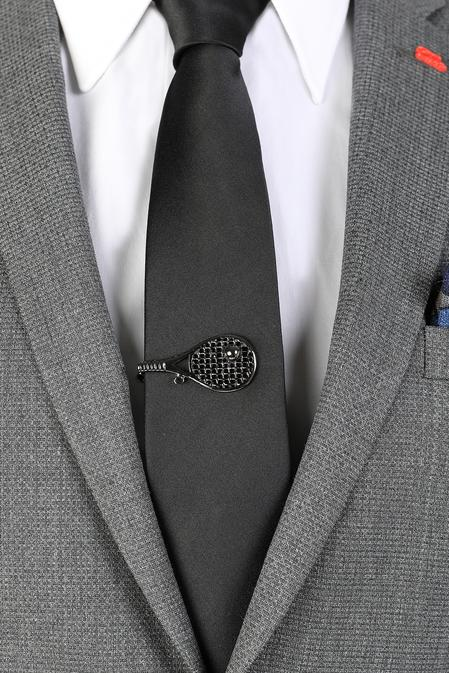 Ds Damat Siyah Kravat İğnesi - 8681778977866 | D'S Damat