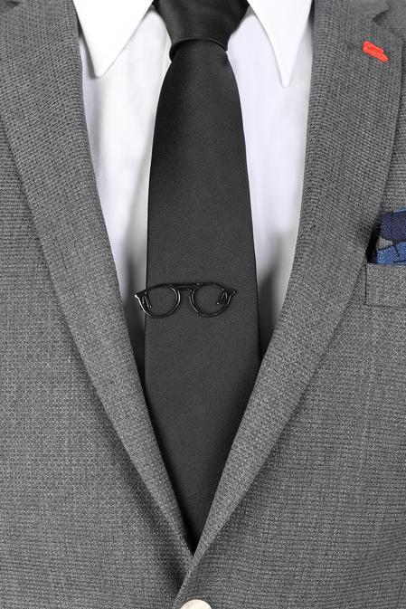 Ds Damat Siyah Kravat İğnesi - 8681778977972 | D'S Damat
