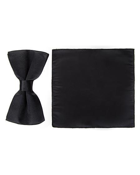 Ds Damat Siyah Düz Papyon - 8681779266341 | D'S Damat