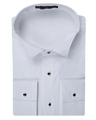 Ds Damat Slim Fit Beyaz Düz Smokin Gömlek - 8681779498704 | D'S Damat