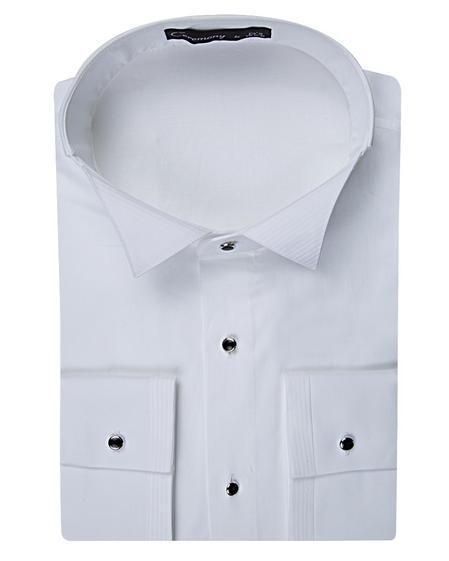 Ds Damat Slim Fit Beyaz Düz Smokin Gömlek - 8682060616791 | D'S Damat