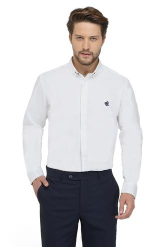 Twn Slim Fit Beyaz Oxford Gömlek - 8682060836373 | D'S Damat