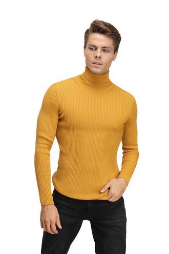 Twn Slim Fit Sarı Kazak - 8681779448464 | D'S Damat