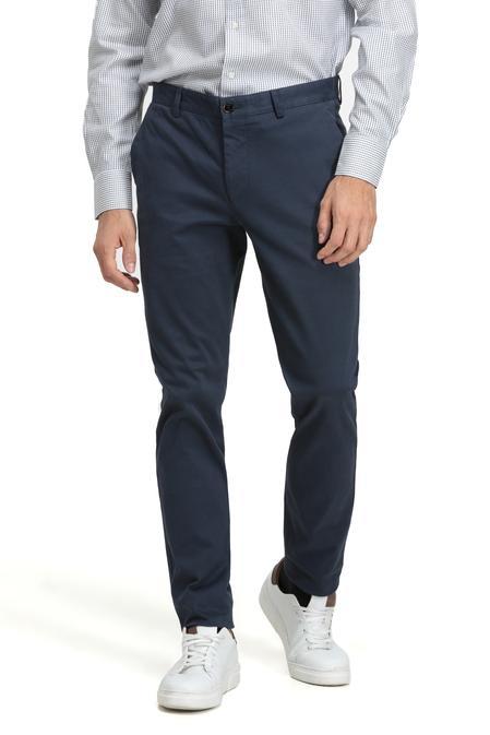 Twn Slim Fit Lacivert Düz Chino Pantolon - 8682060013880   D'S Damat