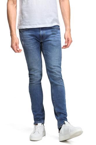 Twn Super Slim Fit Lacivert Taşlı Denim Pantolon - 8682060014412 | D'S Damat