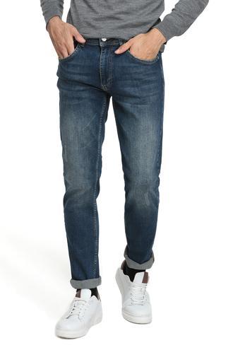 Twn Slim Fit Lacivert Taşlı Denim Pantolon - 8682060014450 | D'S Damat