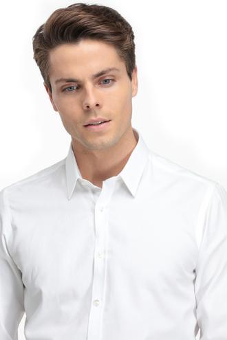Twn Slim Fit Beyaz Armürlü Gömlek - 8681779638872   D'S Damat
