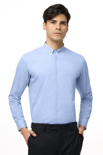 Twn Slim Fit Mavi Armürlü Gomlek - 8681779639893 | D'S Damat