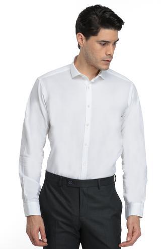Twn Slim Fit Beyaz Düz Gömlek - 8682060016294 | D'S Damat