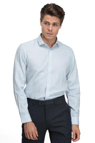 Twn Slim Fit Mavi Baskılı Gömlek - 8682060016539 | D'S Damat