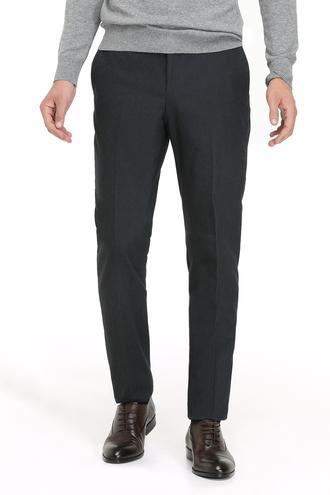 Twn Slim Fit Lacivert Armürlü Kumaş Pantolon - 8682060016928 | D'S Damat