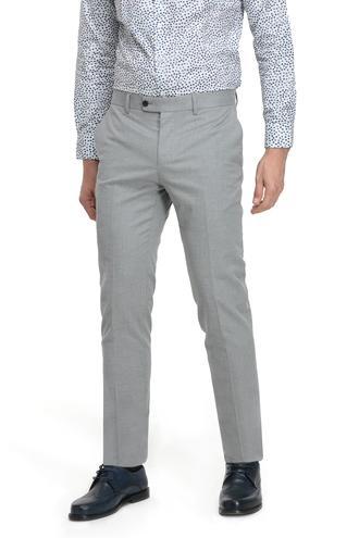 Twn Slim Fit Gri Düz Kumaş Pantolon - 8682060017130 | D'S Damat