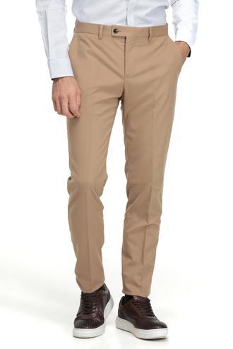 Twn Slim Fit Camel Düz Kumaş Pantolon - 8682060017161 | D'S Damat