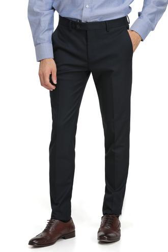 Twn Slim Fit Lacivert Desenli Kumaş Pantolon - 8682060014726 | D'S Damat