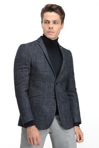 Twn Slim Fit Lacivert Kumaş Ceket - 8681779671206 | D'S Damat