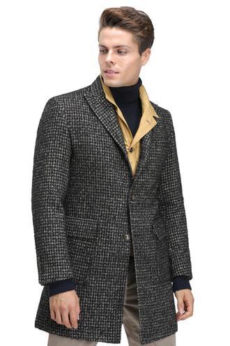 Twn Slim Fit Siyah Palto - 8682060016003 | D'S Damat