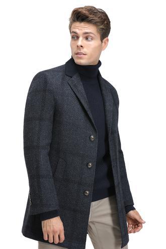 Twn Slim Fit Lacivert Palto - 8682060019349 | D'S Damat