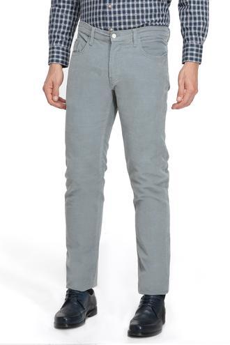 Ds Damat Slim Fit Buz Mavi Fitilli Kadife Chino Pantolon - 8682060017765 | D'S Damat