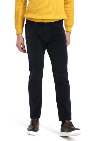 Ds Damat Slim Fit Lacivert Fitilli Kadife Chino Pantolon - 8682060017543 | D'S Damat