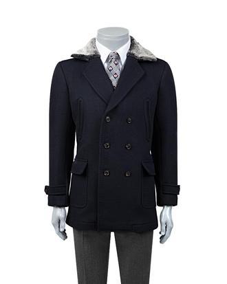 Ds Damat Regular Fit Lacivert Palto - 8681779478683 | D'S Damat