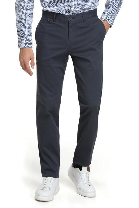 Ds Damat Slim Fit Lacivert Düz Chino Pantolon - 8682060020000 | D'S Damat