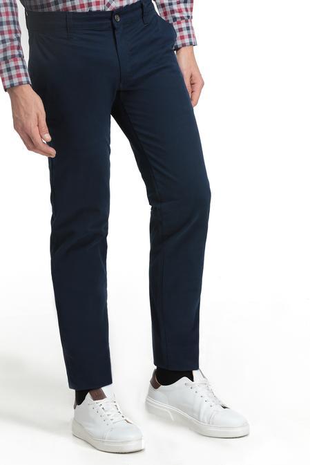 Ds Damat Slim Fit Lacivert Düz Chino Pantolon - 8681779472346   D'S Damat