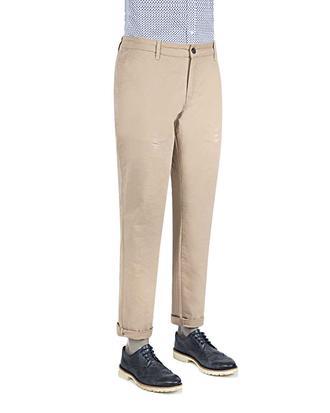 Ds Damat Slim Fit Bej Düz Pantolon - 8681779521662 | D'S Damat