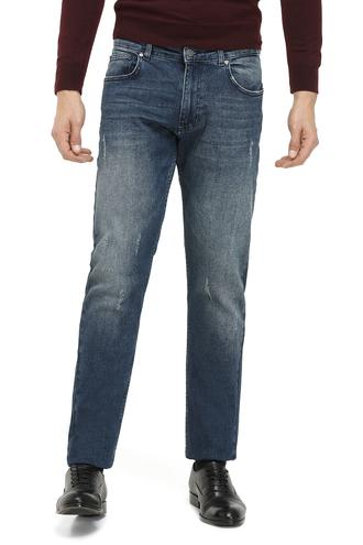 Ds Damat Slim Fit Lacivert Taşlı Denim Pantolon - 8681779478973 | D'S Damat
