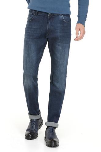 Ds Damat Slim Fit Lacivert Taşlı Denim Pantolon - 8681779478928 | D'S Damat