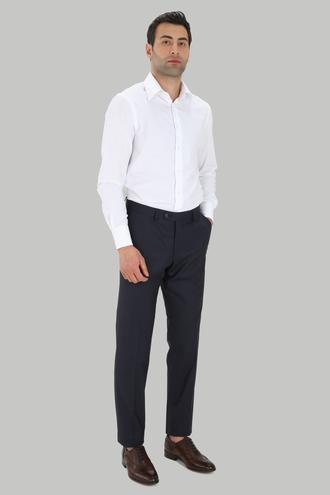 Ds Damat Comfort Lacivert Düz Travel Kumaş Pantolon - 8682060779823 | D'S Damat