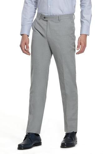 Ds Damat Slim Fit Gri Düz Kumaş Pantolon - 8682060025944 | D'S Damat
