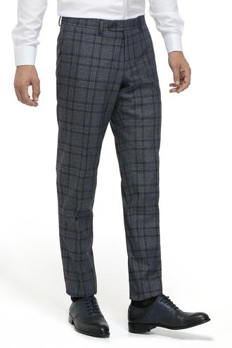 Ds Damat Slim Fit Lacivert Ekoseli Kumaş Pantolon - 8681779503712 | D'S Damat