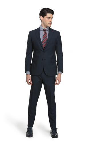 Ds Damat Slim Fit Slim Fit Lacivert Kaz Ayağı Takım Elbise - 8681779650478 | D'S Damat