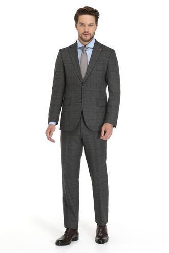 Ds Damat Slim Fit Slim Fit Antrasit Ekoseli Takım Elbise - 8681779531128 | D'S Damat