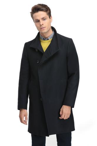 Ds Damat Regular Fit Lacivert Düz Palto - 8681779703822 | D'S Damat
