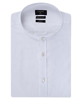 Twn Slim Fit Beyaz Düz Gömlek - 8681494258492 | D'S Damat