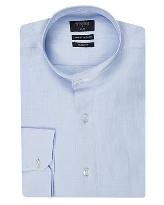 Twn Slim Fit Mavi Düz Gömlek - 8681494252032 | D'S Damat