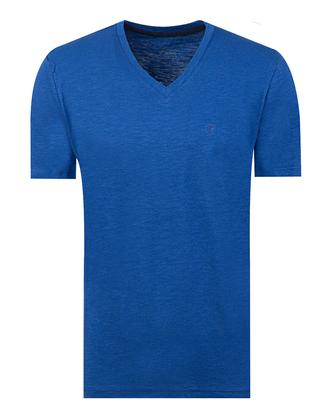 Twn Slim Fit Saks Mavi Düz T-shirt - 8681494201634 | D'S Damat