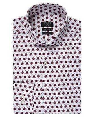 Twn Slim Fit Kırmızı Baskılı Gömlek - 8681494207766 | D'S Damat