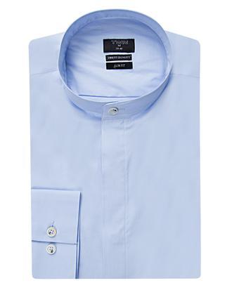Twn Slim Fit Mavi Düz Gömlek - 8681494286501 | D'S Damat
