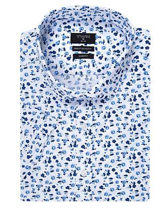 Twn Slim Fit Beyaz Baskılı Gömlek - 8681494234991 | D'S Damat