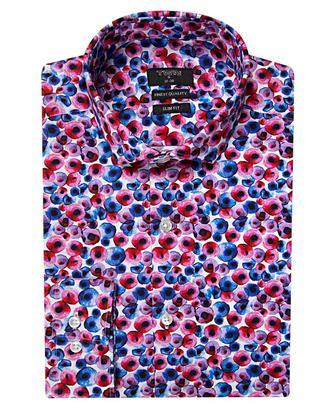 Twn Slim Fit Karma Renk Baskılı Gömlek - 8681494844770 | D'S Damat