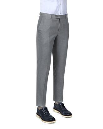 Twn Slim Fit Gri Düz Kumaş Pantolon - 8681494305394 | D'S Damat