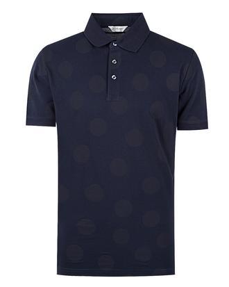 Ds Damat Regular Fit Lacivert Puantiyeli T-shirt - 8681494369099 | D'S Damat