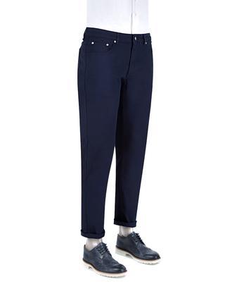 Ds Damat Slim Fit Lacivert Düz Chino Pantolon - 8681494406756 | D'S Damat