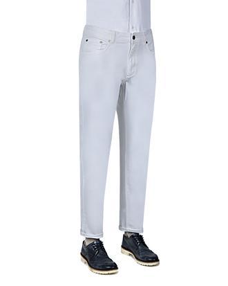 Ds Damat Slim Fit Beyaz Düz Chino Pantolon - 8681494410135 | D'S Damat