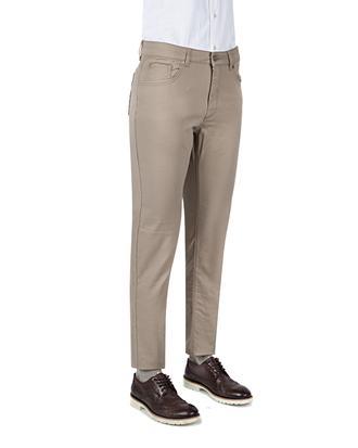 Ds Damat Slim Fit Camel Düz Chino Pantolon - 8681494410722 | D'S Damat