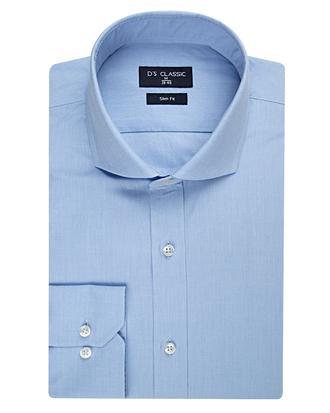 Ds Damat Slim Fit Mavi Armürlü Gömlek - 8681494243993 | D'S Damat