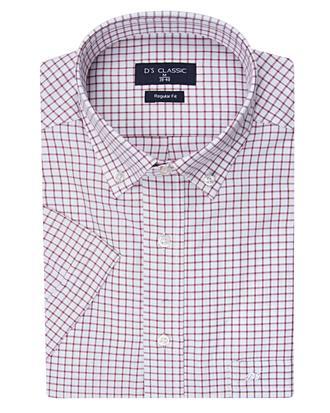 Ds Damat Regular Fit Beyaz Ekoseli Gömlek - 8681494918129 | D'S Damat